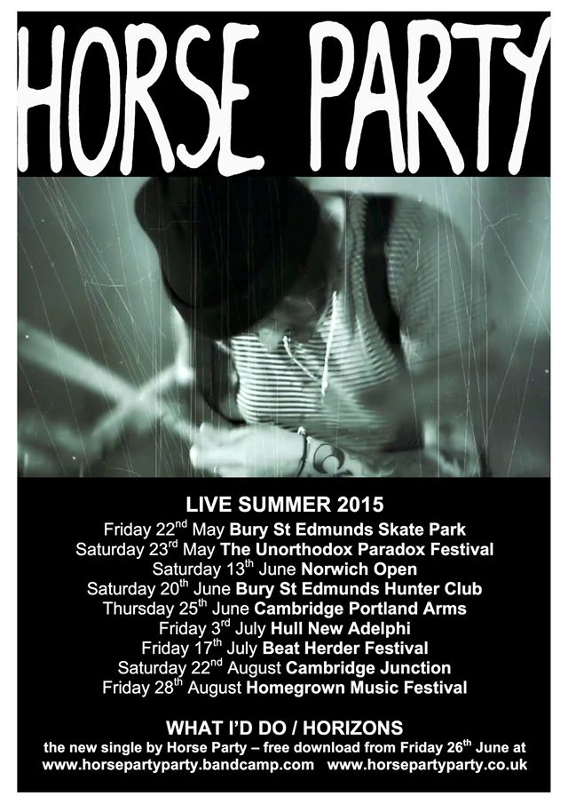 Horse Party, Integrity Records, summer 2015, gigs